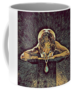 0756s-zac Nude Woman With Amulet On Tall Pedestal  Coffee Mug by Chris Maher