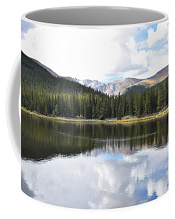 Coffee Mug featuring the photograph Echo Lake Reflection Mnt Evans Co by Margarethe Binkley
