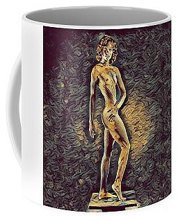 0957s-zac Fit Black Dancer Standing On Platform Coffee Mug by Chris Maher