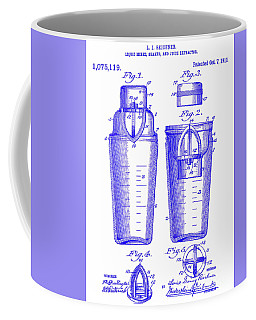 1913 Cocktail Shaker Patent Blueprint Coffee Mug