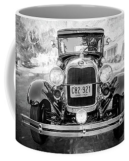 1929 Ford Model A Tudor Police Sedan Bw Coffee Mug by Rich Franco