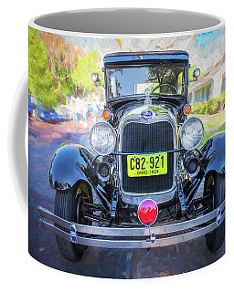 1929 Ford Model A Tudor Police Sedan  Coffee Mug by Rich Franco