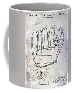 1943 Baseball Glove Patent Coffee Mug