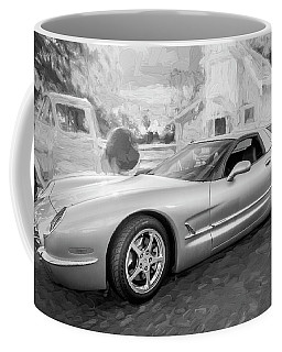 1954 Corvette Nomad Bw C153 Coffee Mug by Rich Franco