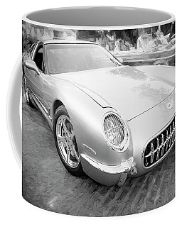 1954 Corvette Nomad Bw Coffee Mug by Rich Franco