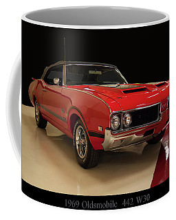 Coffee Mug featuring the photograph 1969 Oldsmobile 442 W 30 by Chris Flees