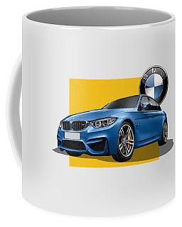 2016  B M W  M 3  Sedan With 3 D Badge  Coffee Mug