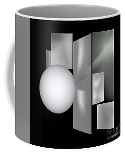 Coffee Mug featuring the digital art 1-2017 by John Krakora