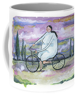 A Beautiful Day For A Ride Coffee Mug by Leanne WILKES