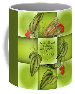A Friend Loves Coffee Mug by Larry Bishop