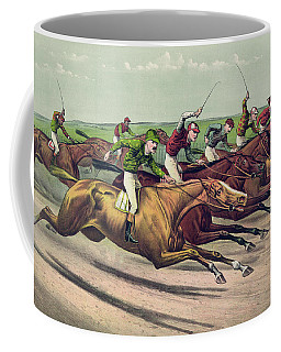 A Head And Head Finish  Coffee Mug
