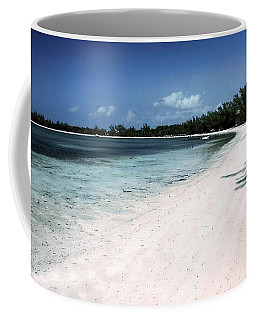 A Horseshoe Beach In The Bahamas Coffee Mug