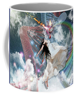 Coffee Mug featuring the digital art A New Heart by Dolores Develde