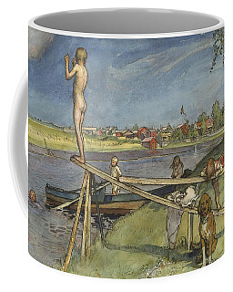 A Pleasant Bathing-place. From A Home Coffee Mug by Carl Larsson