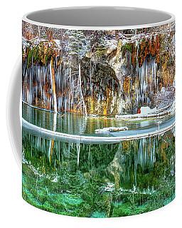 Olena Art Serene Chill Hanging Lake Photograph The Gem Of Glenwood Canyon Colorado Coffee Mug