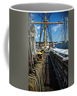 Coffee Mug featuring the photograph Aboard The Eagle by Karol Livote