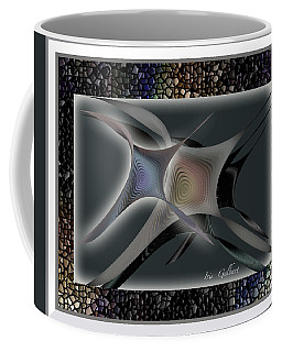 Coffee Mug featuring the digital art Abstract #5 by Iris Gelbart