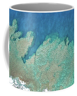 Abstract Aerial Reef Coffee Mug