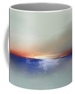 Abstract Beach Sunrise  Coffee Mug by Anthony Fishburne