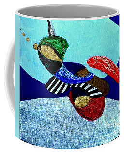 Abstract Silver Coffee Mug by Rod Ismay