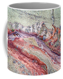aerial landscape abstract of Colorado foothills Coffee Mug