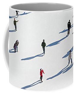 Aerial View Of Ice Skating Coffee Mug