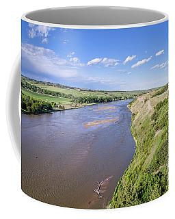 aerial view of Niobrara River in Nebraska Sand Hills Coffee Mug