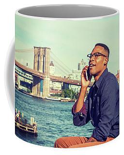 African American Man Traveling In New York Coffee Mug