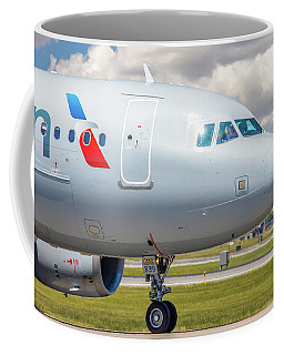 Coffee Mug featuring the photograph Airbus A319 by Guy Whiteley