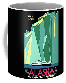 Alaska Vintage Travel Poster Restored Coffee Mug