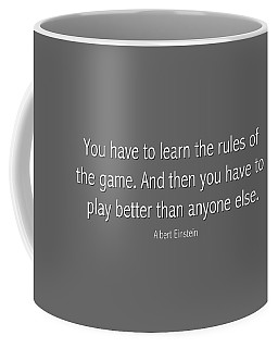 Albert Einstein Famous Quote In Gray Coffee Mug