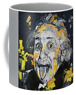 Coffee Mug featuring the painting Albert Einstein by Richard Day