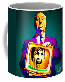 Coffee Mug featuring the photograph Alfred Hitchcock Psycho 20151218v3 Square by Wingsdomain Art and Photography