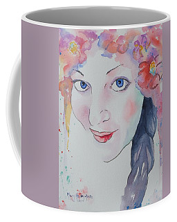 Coffee Mug featuring the painting Alisha by Mary Haley-Rocks