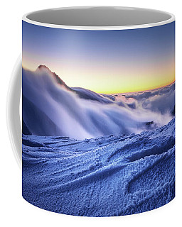 Amazing Foggy Sunset At Mountain Peak In Mala Fatra, Slovakia Coffee Mug