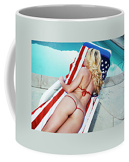 Coffee Mug featuring the photograph American Beauty No9060 by Amyn Nasser