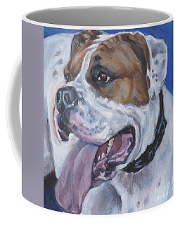 Coffee Mug featuring the painting American Bulldog by Lee Ann Shepard