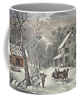 American Homestead   Winter Coffee Mug