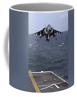 An Av-8b Harrier II Prepares To Land Coffee Mug