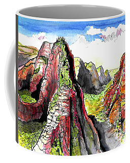Angels Landing-zion Coffee Mug