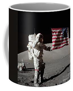 Apollo 17 Astronaut Salutes The United Coffee Mug