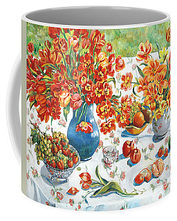 Apples And Oranges Coffee Mug by Alexandra Maria Ethlyn Cheshire
