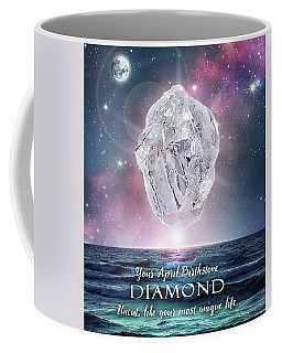 April Birthstone Diamond Coffee Mug