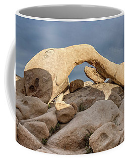Arch Rock Panorama In Joshua Tree Coffee Mug by Joe Belanger