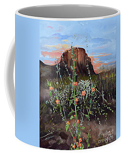 Arizona Desert Flowers-dwarf Indian Mallow Coffee Mug