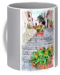 Arzachena Staircase And Church Of The Santa Lucia Coffee Mug