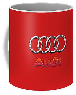 Audi - 3d Badge On Red Coffee Mug