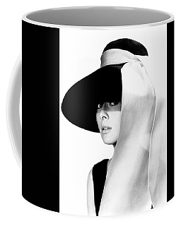 Coffee Mug featuring the photograph Audrey Hepburn As Holly Golightly by R Muirhead Art