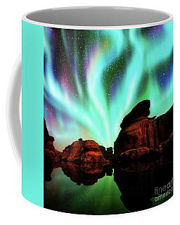 Aurora Over Lagoon Coffee Mug