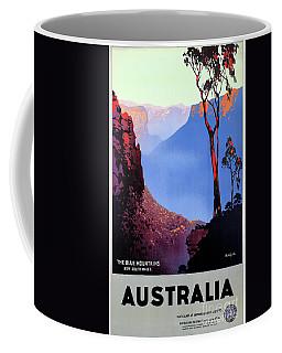 Australia Restored Vintage Travel Poster Coffee Mug by Carsten Reisinger